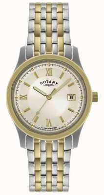 Rotary 男士双色钢质手镯表 GBI0793/09