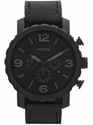 Fossil 男士黑色计时码表x大号手表 JR1354