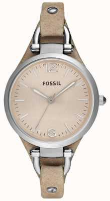Fossil 女装模拟皮革表带 ES2830