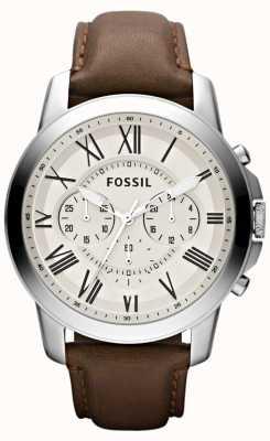 Fossil 男士计时皮革表带 FS4735