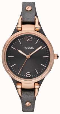 Fossil 女装皮表带模拟手表 ES3077