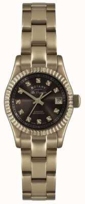 Rotary 女士玫瑰金Les Originales verbier手表展览前 LB08153/16EX-DISPLAY