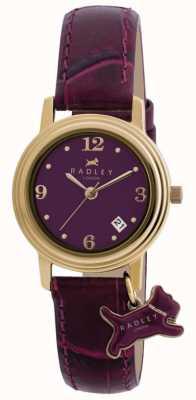 Radley 女士Darlington紫色皮革表带紫色表盘 RY2008S