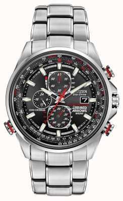 Citizen 根特在D9计时码表生态驱动器手表上的红色箭头 AT8060-50E