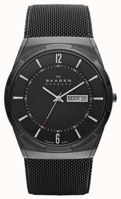 Skagen 男士aktiv黑色离子镀钛黑色表盘手表 SKW6006