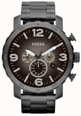 Fossil 男士nate烟不锈钢计时码表 JR1437