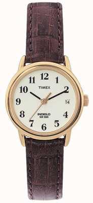 Timex 女士自然棕色容易的读者手表 T20071