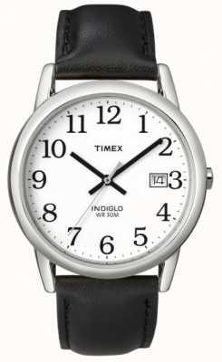 Timex 男士白色黑色轻松阅读器手表 T2H281