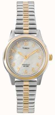 Timex 女士们双色礼服扩展器手表 T2M828