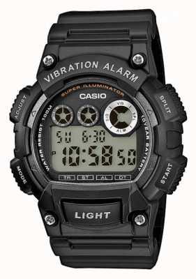 Casio 男士黑色树脂表带振动报警手表 W-735H-1AVEF