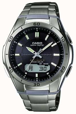 Casio 男士腕表黑色表盘钛腕表 WVA-M640TD-1AER