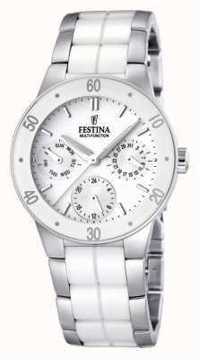 Festina 女式白色陶瓷和不锈钢多点式手表 F16530/1