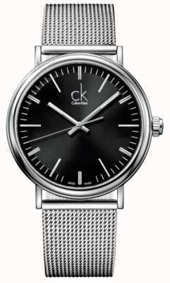 Calvin Klein 男士环绕黑色表盘网眼手表 K3W21121