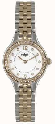 Rotary 女装两色调,水晶手表 LB02868/01