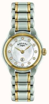 Rotary 女士们双色手镯表 LB02602/41L
