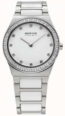 Bering 女装白色陶瓷水晶手表 32430-754