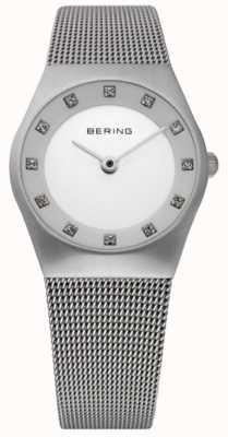 Bering 女士极简手表|不锈钢网手链| 11927-000