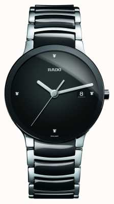 Rado Centrix钻石高科技陶瓷黑色表盘腕表 R30934712