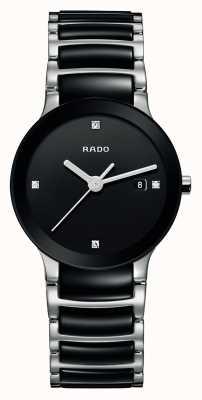 RADO Centrix钻石高科技陶瓷黑色表盘腕表 R30935712