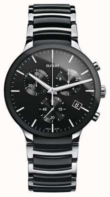Rado Centrix计时码表黑色陶瓷手链表 R30130152