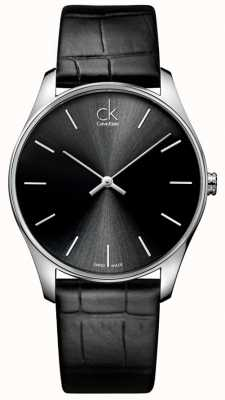 Calvin Klein 男士经典黑色腕表 K4D211C1