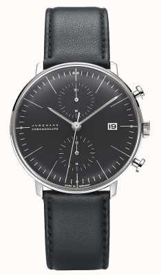 Junghans Max Bill计时器|黑色皮革表带 027/4601.04