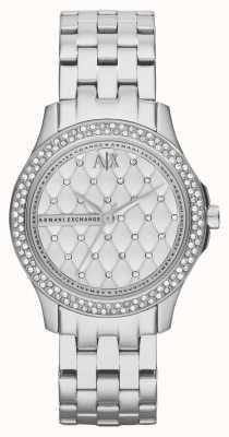 Armani Exchange 女士智能不锈钢手链水晶套装 AX5215