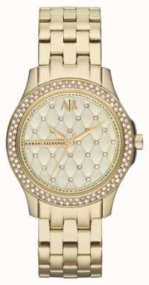 Armani Exchange 女士精巧镀金手链水晶套装 AX5216