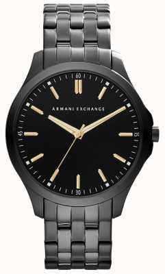 Armani Exchange 男士智能IP镀黑色表盘金色点缀 AX2144