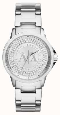 Armani Exchange 女装都市水晶套装不锈钢手链 AX4320
