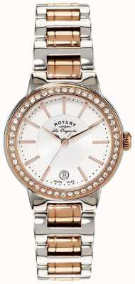 Rotary 女装les originales玫瑰金钢水晶镶表 LB90083/02