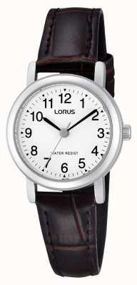 Lorus 女士不锈钢皮表带手表 RRS57UX9