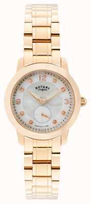Rotary 女士剑桥,玫瑰金,珍珠,水晶 LB02702/41
