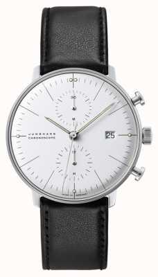 Junghans Max Bill计时器|自动|黑色皮革表带 027/4600.04