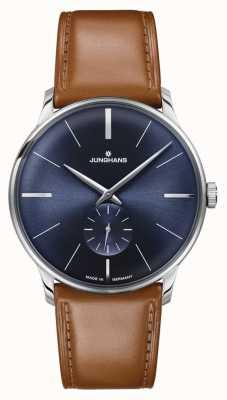 Junghans 男士meister手动上链棕色皮革表带 027/3504.00