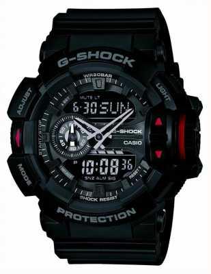 Casio 男士g-shock黑色计时腕表 GA-400-1BER
