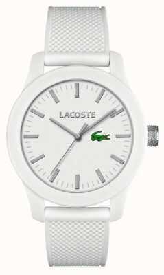 Lacoste 男士12.12白色硅胶表带白色表盘 2010762