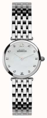 Michel Herbelin 女装epsilon,石镶,珍珠表盘 1045/B59