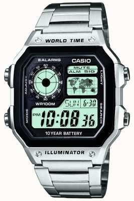 Casio 数字多功能世界时间石英 AE-1200WHD-1AVEF