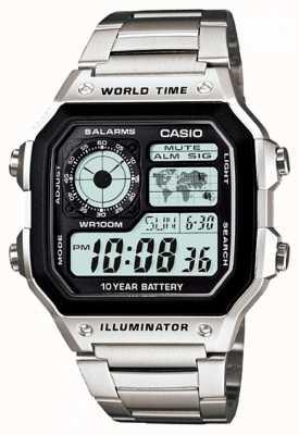 Casio 数字多功能世界计时器石英 AE-1200WHD-1AVEF