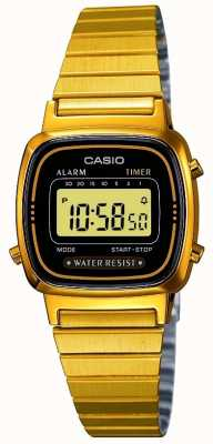 Casio 女装数码手镯复古镀金 LA670WEGA-1EF