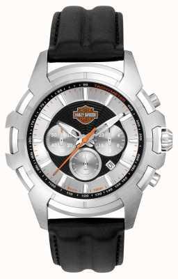 Harley Davidson 男装黑色和银色蜘蛛网设计 76B161