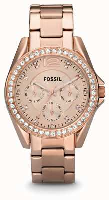 Fossil 女装玫瑰金镀金pvd ES2811