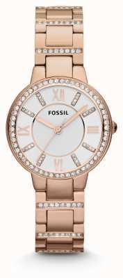 Fossil 女性弗吉尼亚玫瑰金镀金pvd ES3284