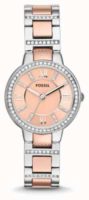 Fossil 女子弗吉尼亚双色粉红色表盘 ES3405