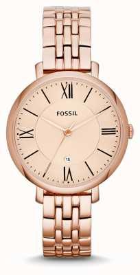 Fossil 女装jacqueline玫瑰金镀金pvd ES3435