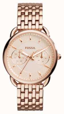 Fossil 女装裁缝玫瑰金镀金pvd ES3713