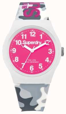 Superdry 男士城市迷彩表带粉红色表盘 SYG164EP