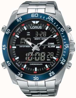Lorus 男士双时间不锈钢 RW623AX9