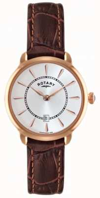 Rotary 女士棕色真皮表带手表 LS02919/03